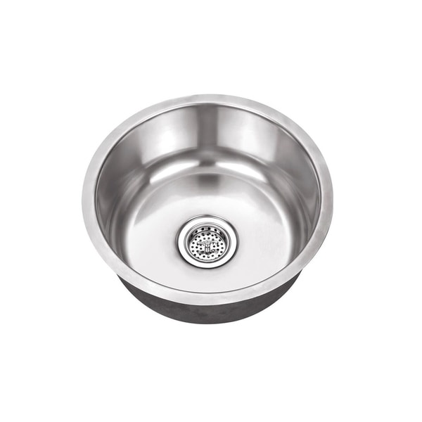 Shop Undermount 17 1 8 In Single Bowl Round Stainless