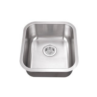 Undermount 16-1/8 in. Single Bowl Stainless Steel Bar Sink