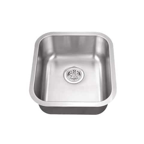 Undermount 16-1/8 in. Single Bowl Stainless Steel Bar Sink