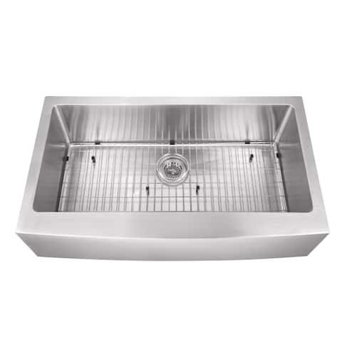Undermount 32-7/8 in. Apron Front Stainless Steel Kitchen Sink