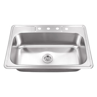 Drop-In 33 in. Single Bowl Stainless Steel Utility Sink