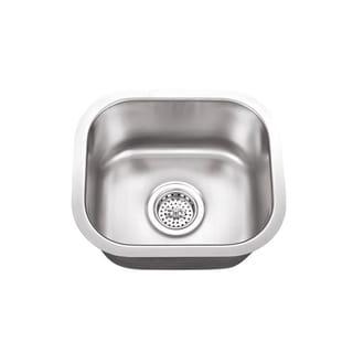 Undermount 14-1/2 in. Single Bowl Stainless Steel Bar Sink
