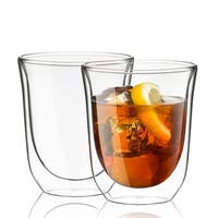 JoyJolt Levitea Double Wall Glasses, 8.4 Ounce Set of 2 Thermo Tumblers