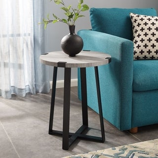 "18"" Round Metal Wrap Side Table - 18 x 18 x 22h"