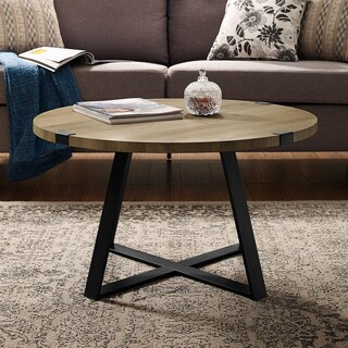 "31"" Round Metal Wrap Coffee Table - 31 x 31 x 17h"