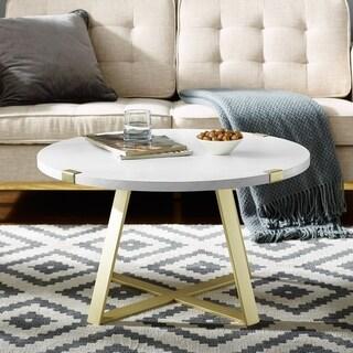 Carbon Loft Barnett 31-inch Modern Round Coffee Table