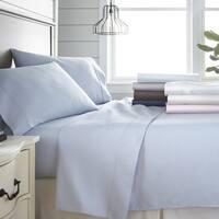 Merit Linens 300 Thead Count Cotton 4 Piece Bed Sheet Set
