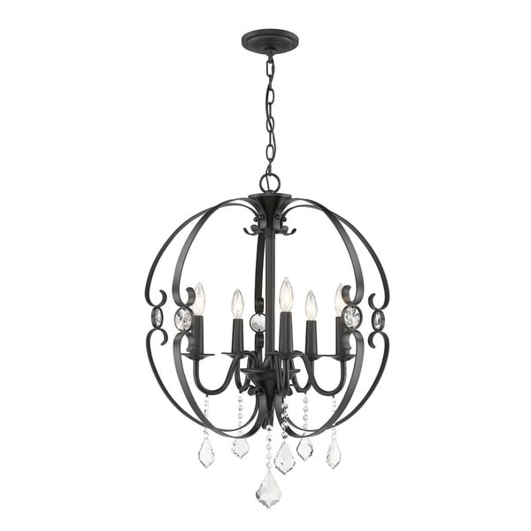 Cynthia 5 Light Chandelier in Black