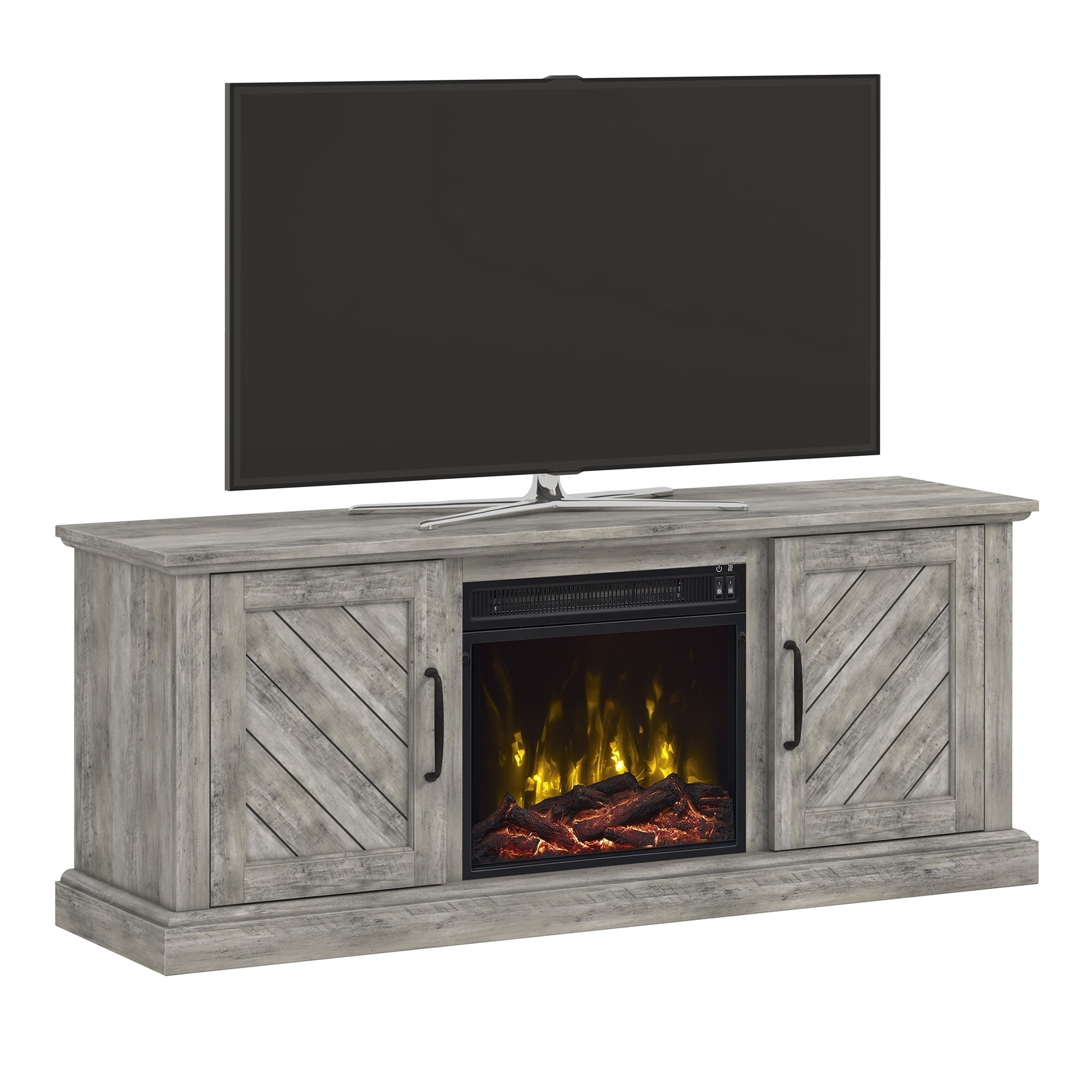 Belcrest Fireplace Tv Stand For Tvs Up To 60 Valley Pine 56 Inches In Width On Sale Overstock 21234619