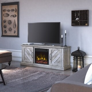 "Belcrest Fireplace TV Stand for TVs up to 60"", Valley Pine - 56 inches in width"