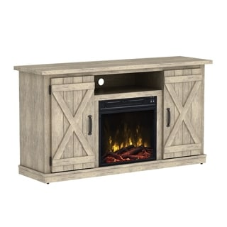 "Cottonwood Fireplace TV Stand for TVs up to 55"", Ashland Pine - 47.5 inches in width"