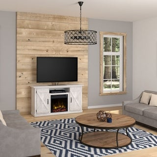 """Cottonwood Fireplace TV Stand for TVs up to 55"""", White"""