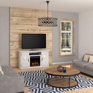 "Cottonwood Fireplace TV Stand for TVs up to 55"", White"