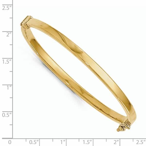 14 Karat Gold Polished Hinged