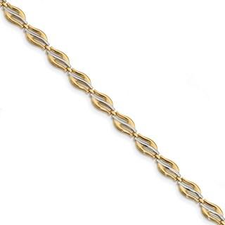 14 Karat With Rhodium Fancy Bracelet, by Versil