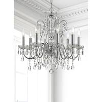elight DESIGN Traditional 8-light Chrome/Crystal Chandelier