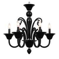 elight DESIGN Modern 6-light Black Chandelier