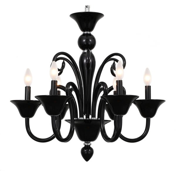 elight DESIGN Modern 6-light Black Chandelier