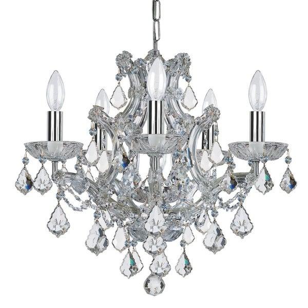 elight DESIGN Traditional 6-light Chrome/Crystal Mini Chandelier