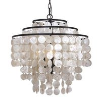 elight DESIGN Coastal 3-light Bronze/Capiz Shell Chandelier