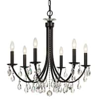 elight DESIGN Traditional 6-light Bronze/Crystal Chandelier