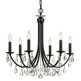 elight DESIGN Traditional 6-light Bronze/Crystal Chandelier