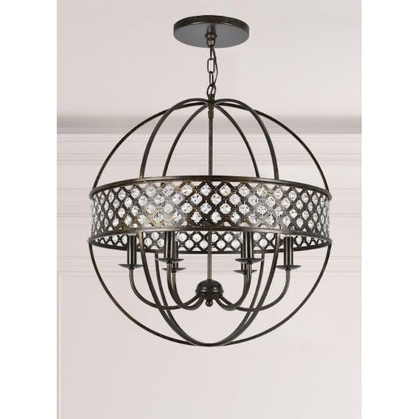 elight DESIGN Industrial 6-light Bronze/Crystal Chandelier