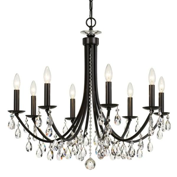 elight DESIGN Traditional 8-light Bronze/Crystal Chandelier