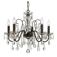 elight DESIGN Traditional 5-light Bronze/Crystal Chandelier
