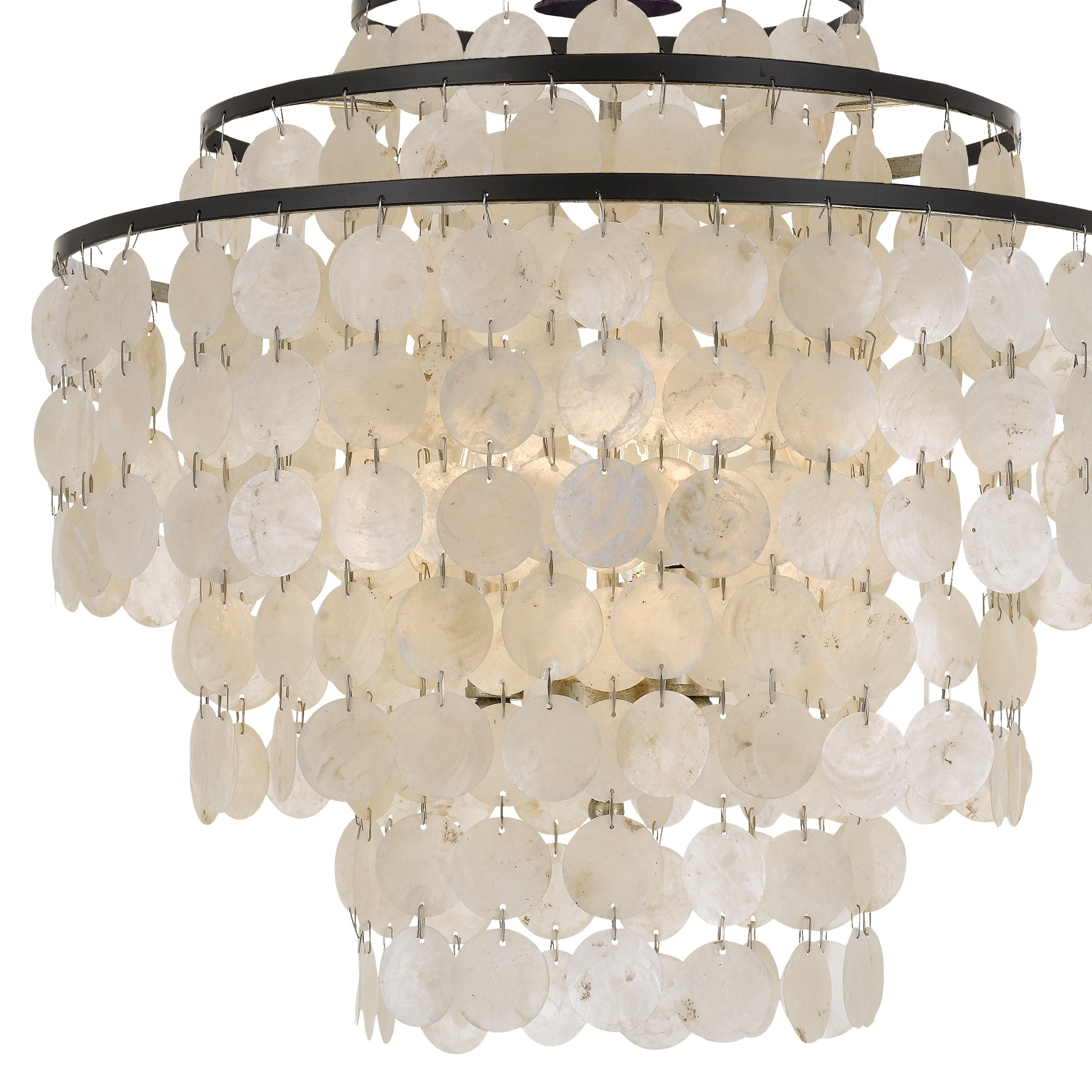 Coastal 4 Light Bronze Capiz S Chandelier