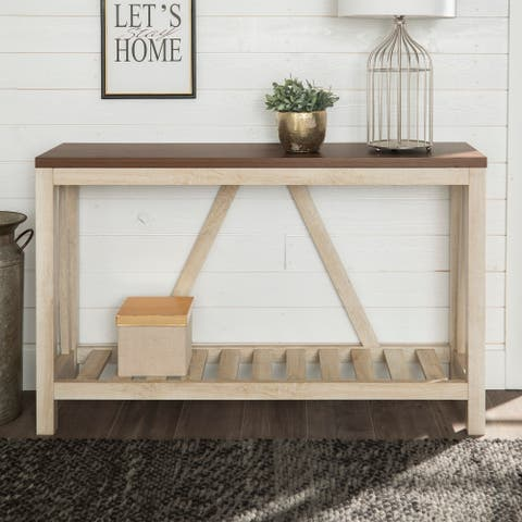 The Gray Barn Paradise Hill A-frame Entry Console Table