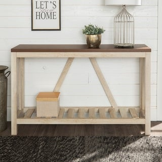 The Gray Barn 53-inch Paradise Hill A-frame Entryway Console Sofa Table, A-frame Sofa Table for Entryway, Living Room