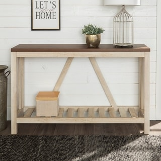 The Gray Barn 53-inch Paradise Hill A-frame Entryway Console Sofa Table