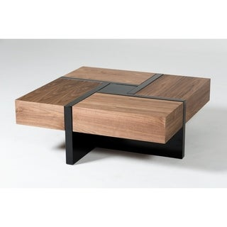 Link to Modrest Makai Walnut & Black Square Coffee Table Similar Items in Living Room Furniture