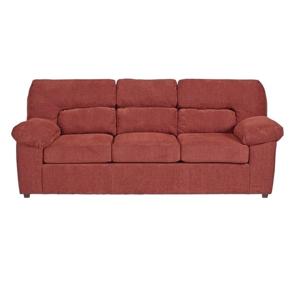 Progressive Duke Red Chenille Sofa