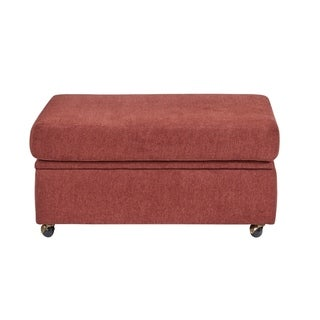 Progressive Duke Red Storage Ottoman
