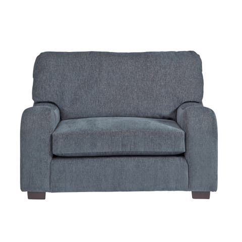 Progressive Nora Blue Fabric Chair-and-a-Half