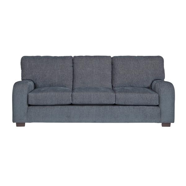 Shop Progressive Nora Blue Grey Chenille Sofa - On Sale ...