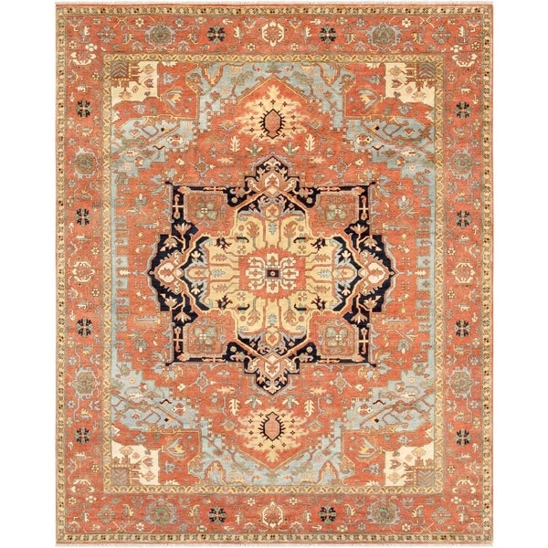 Pasargad Serapi Rust Collection Hand-Knotted Wool Rug (6' x 9') - 6' x 9'