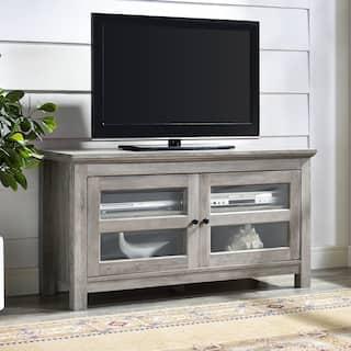 44 Inch Wood Tv Media Stand Storage Console Grey Wash