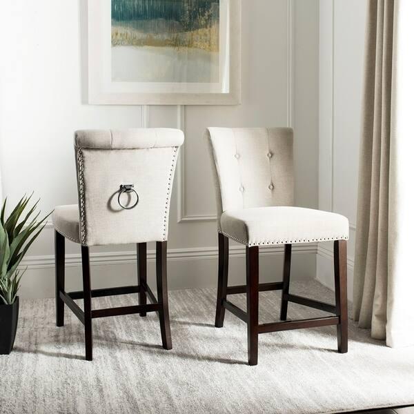 Brilliant Shop Safavieh 26 Inch Taylor Light Grey Espresso Tufted Ibusinesslaw Wood Chair Design Ideas Ibusinesslaworg