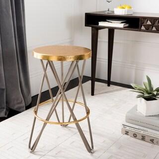 Safavieh Lorna Gold Leaf Counter Stool - N/A
