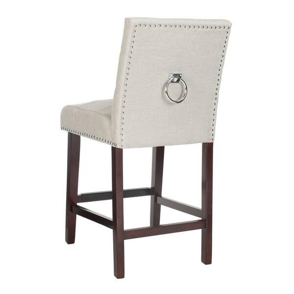 Tremendous Shop Safavieh 26 5 Inch Nikita Light Grey Espresso Tufted Lamtechconsult Wood Chair Design Ideas Lamtechconsultcom