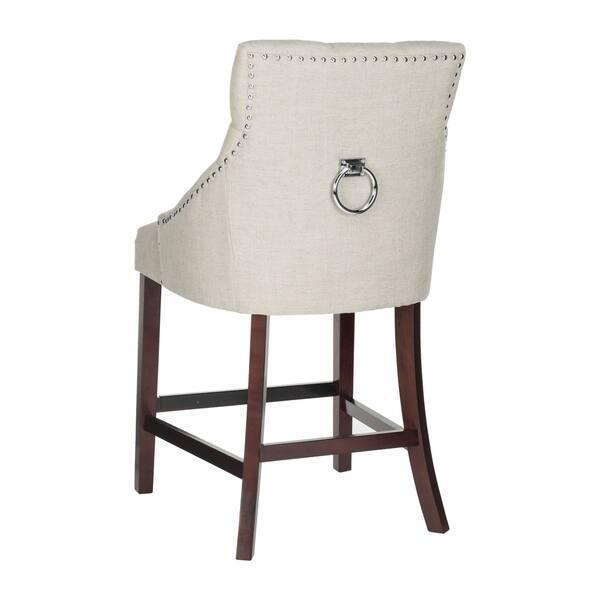 Wondrous Shop Safavieh 26 Inch Eleni Light Grey Espresso Tufted Ibusinesslaw Wood Chair Design Ideas Ibusinesslaworg