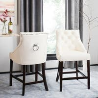 Safavieh Eleni Tufted Wing Back Counter Stool - N/A