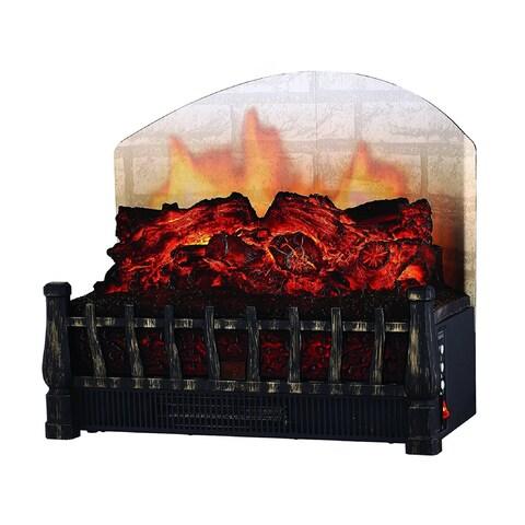 Comfort Glow ELCG364 Electric Log Insert, Heater & Rear Reflecting Back Screen 5,120 BTUs