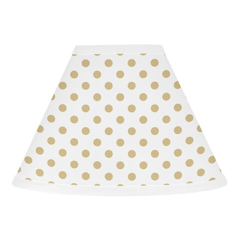 Sweet Jojo Designs Gold and White Polka Dot Watercolor Floral Collection Lamp Shade