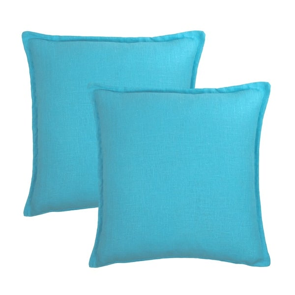 2a9af0ebe4ab8 Shop Sherry Kline Frisco Linen Light Blue Reversible 20-inch Decorative  pillow (set of 2) - Free Shipping Today - Overstock - 21235057
