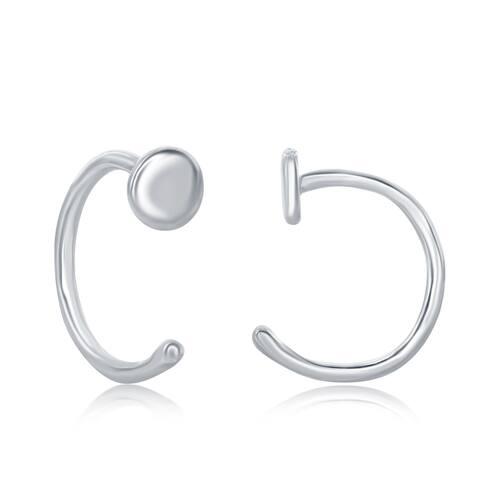 La Preciosa Sterling Silver High Polish Mini Disc Earrings