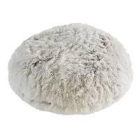 Polar Pouf - Round / White, Faux Fur Floor Pouf with Poly Fill